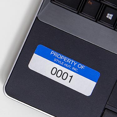Asset Tags - Shop Blank Asset Labels for Internal Inventory