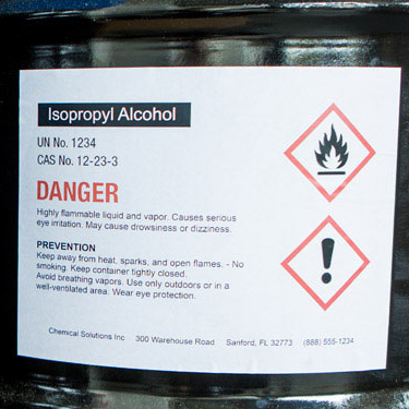 Chemical Resistant Labels - Browse Vinyl Label Sheets for