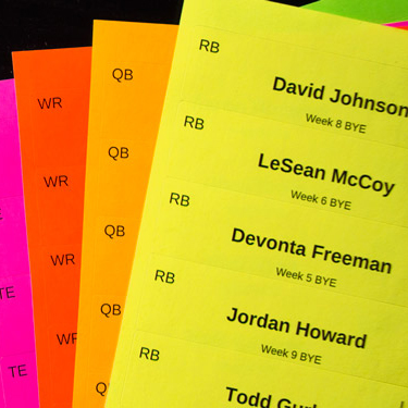 image relating to Printable Fantasy Football Draft Board identify Myth League Draft Board Labels - Retailer Blank Labels for