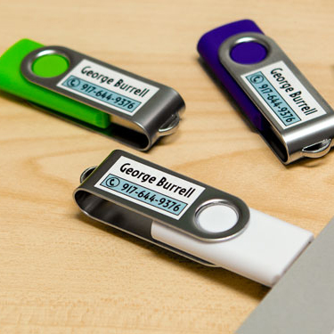 photo relating to Printable Usb Drive identified as Flash Enthusiasm Labels - Keep USB Commitment Labels upon Sheets