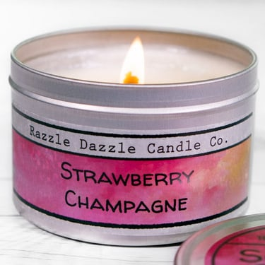 Metal Tin Container Labels for Candles, Mints, Lip Balm, & More