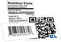 Nutrition Label / Barcode Label / QR Code Generator Tools