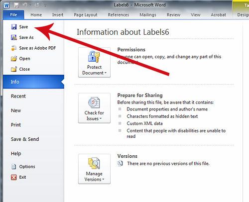 Print File Folder Labels In Word
