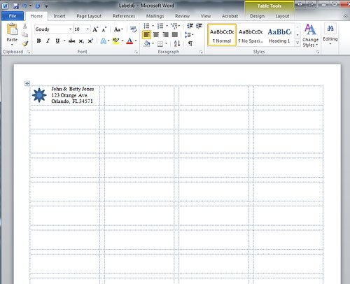how to create a microsoft word label template