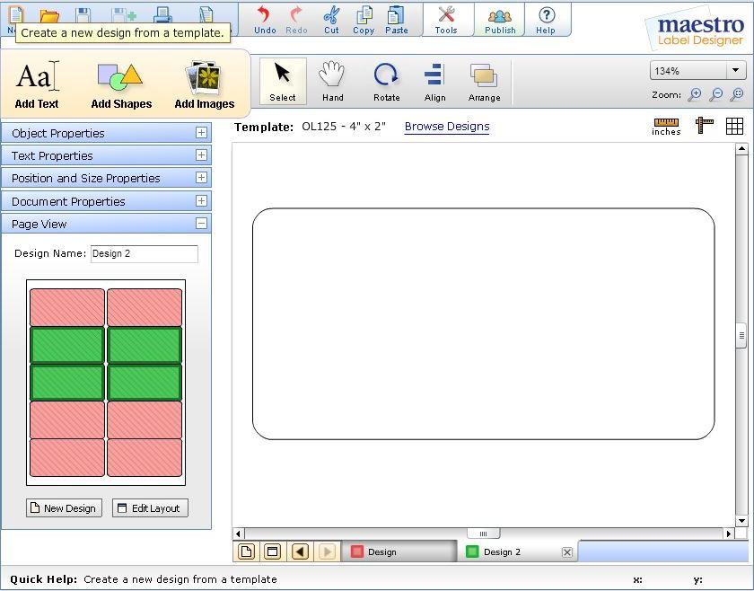 Custom Card Template online lables : Help Center - Maestro Label Designer - How to Print ...