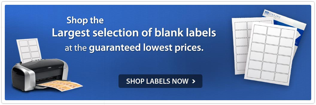 Shop the largest selection of blank labels at the guaranteed lowest prices