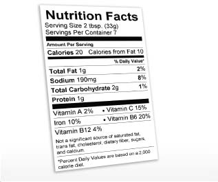 Nutrition Label Generator