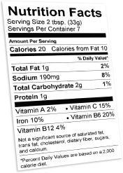Free Nutrition Label Maker Generate Nutrition Fact Labels Using . Nutrition  Labels Template  Ingredients Label Template