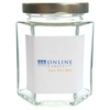 6 oz Hexagon Glass Jar - OL5051