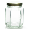 3.75 oz Glass Hexagon Jar