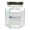 3.75 oz Glass Hexagon Jar - OL5350