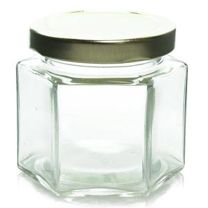 4 oz Glass Hexagon Jar
