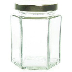 6 oz Hexagon Glass Jar