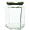9 oz Hexagon Glass Jar Labels