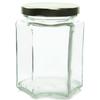 9 oz Hexagon Glass Jar