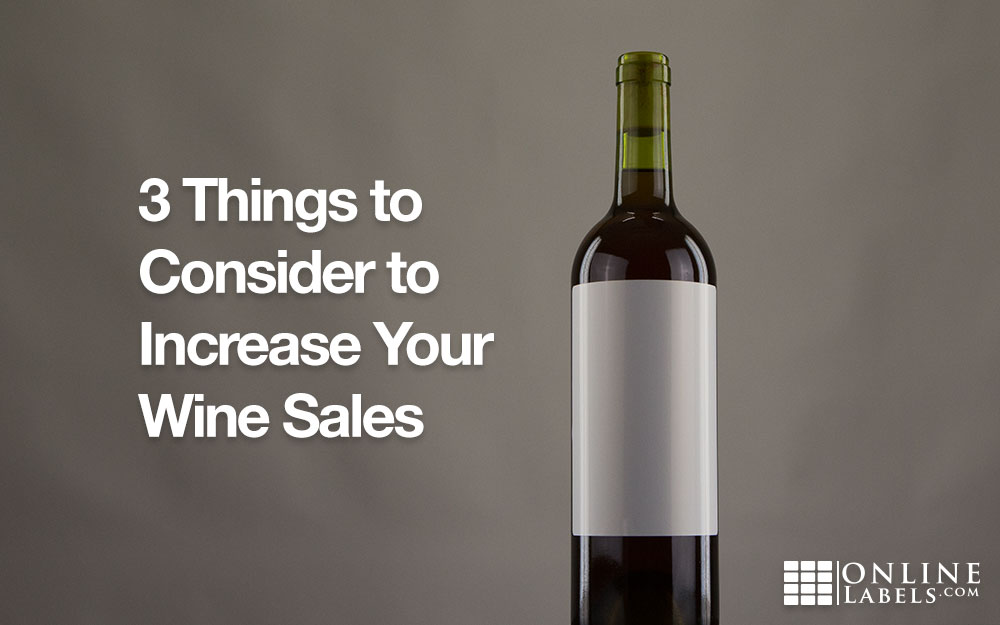 Bottle of wine with blank label - ways your label can impact buyers