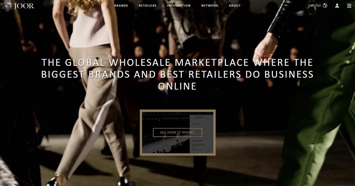 Joor homepage screenshot.