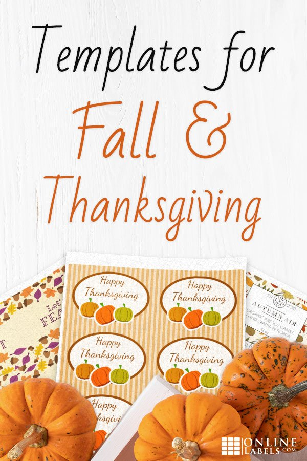 Free printable label templates you can download to celebrate Thanksgiving and Fall