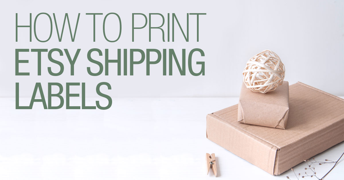 Ways to print Etsy shipping labels