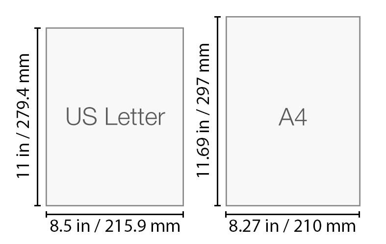 A4 vs US Letter paper standard.
