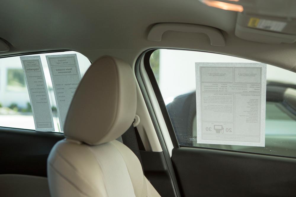 Automobile dealer window stickers for Window dealers