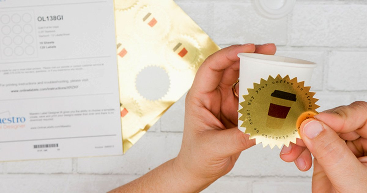 Apply the printed label to your gift.