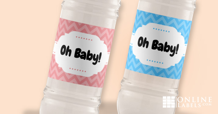 Label designs you can download for free and attach to water bottles at a baby shower