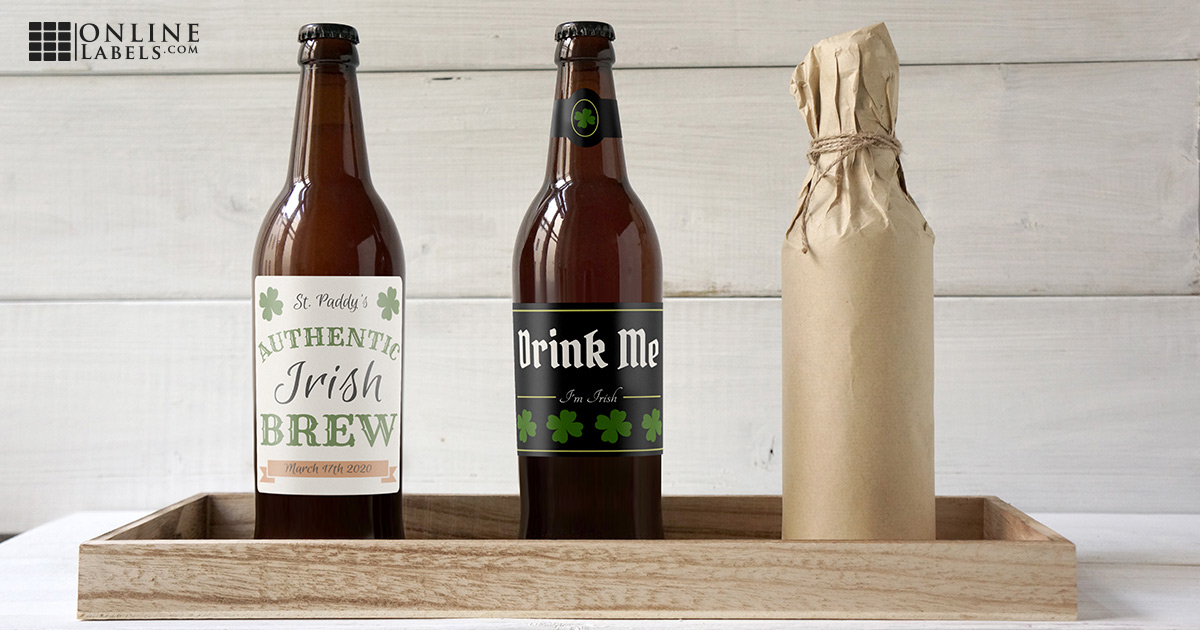 Free printable beer bottle label templates for St. Patrick's Day