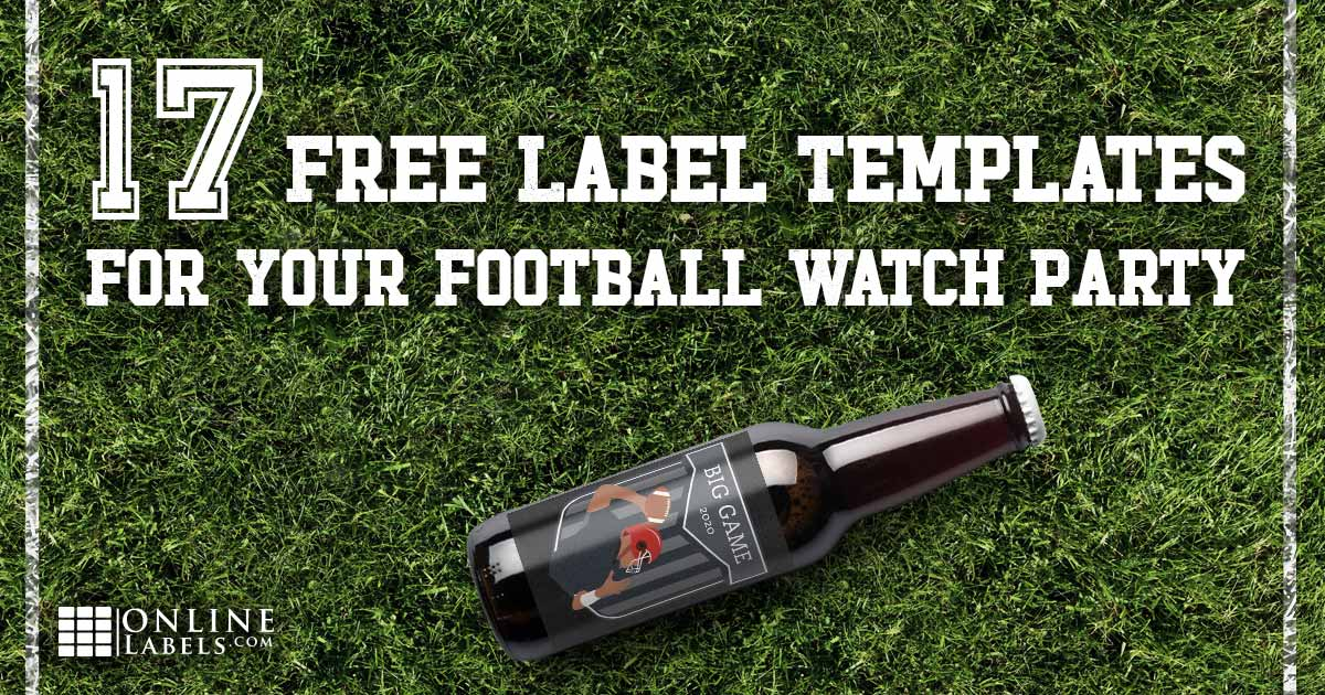 Free printable label templates you can download to decorate your home for football Sundays and the Big Game