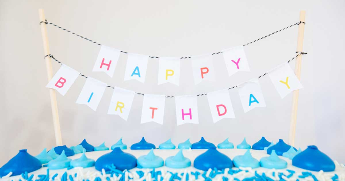DIY birthday banner tutorial: You're done