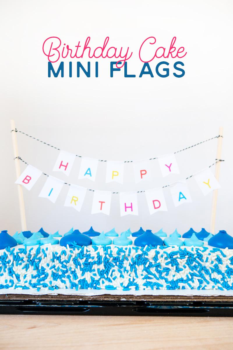 DIY birthday cake garland using labels