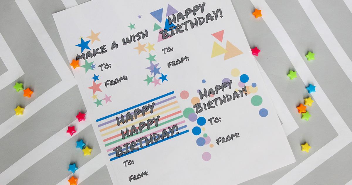 Diy Printable Birthday Gift Tag