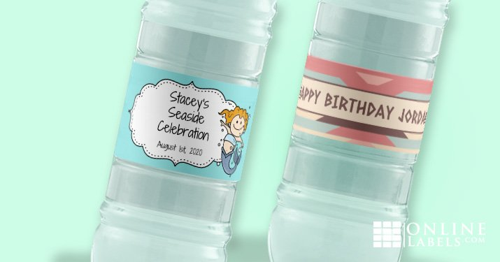 Step up your child's birthday party with these free printable water bottle label templates