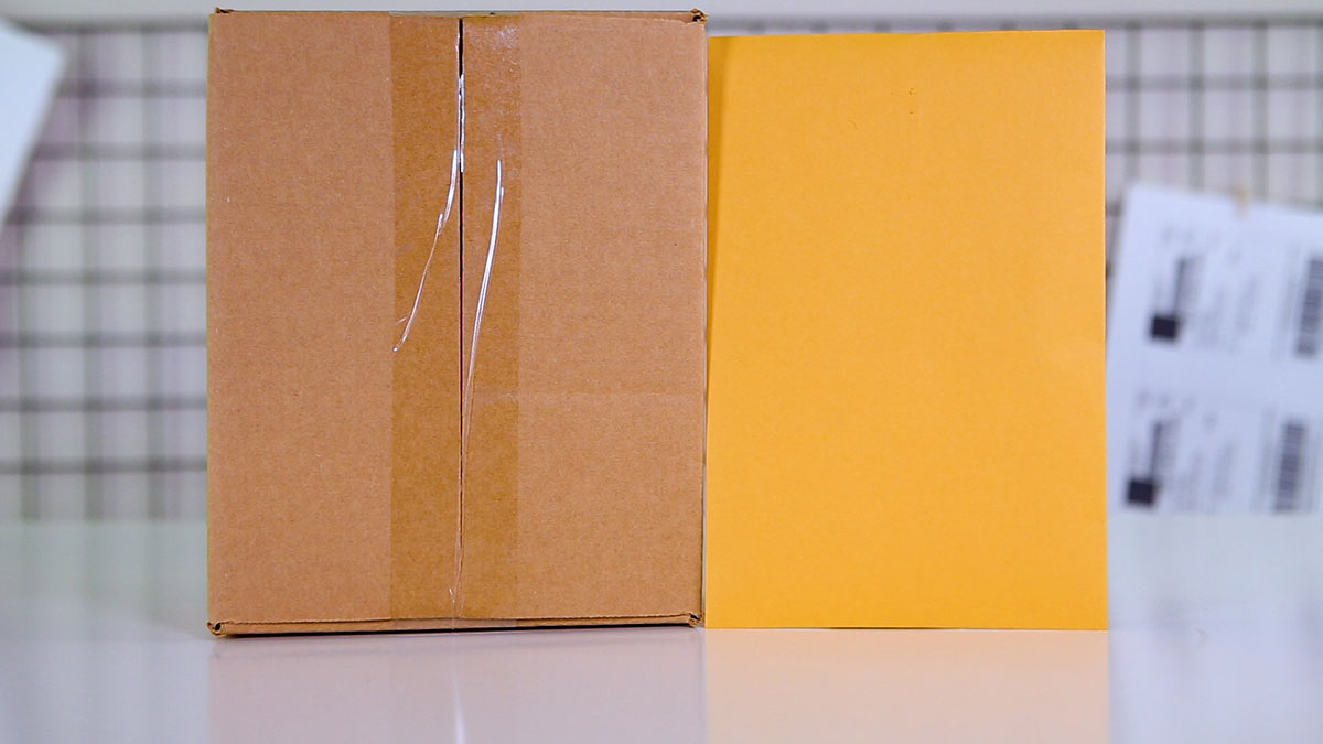Choosing the right box/envelope type for shipping
