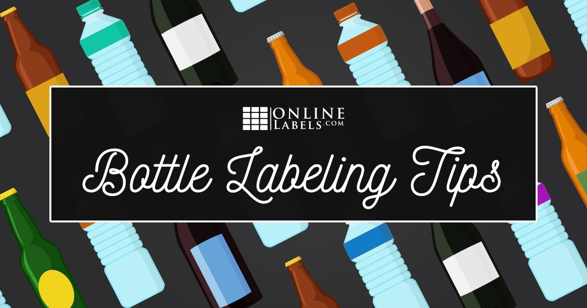 Water, beer, and wine bottles with varying bottle labels