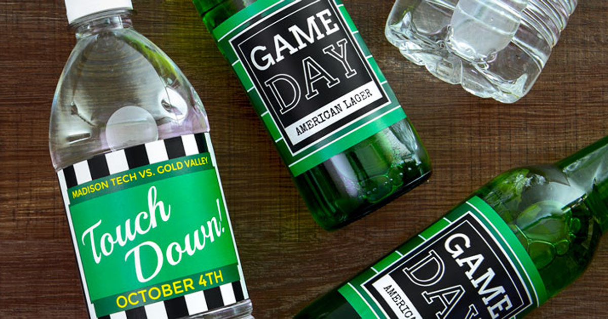 Labels on bottles