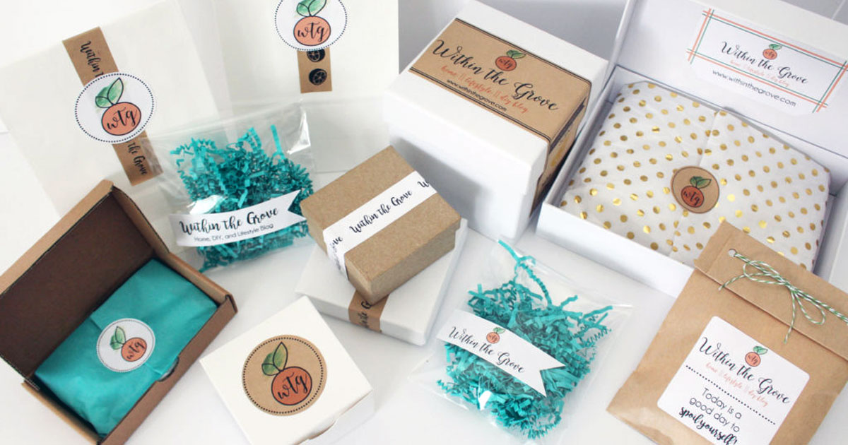 Improve your customer's experience with branded packaging.