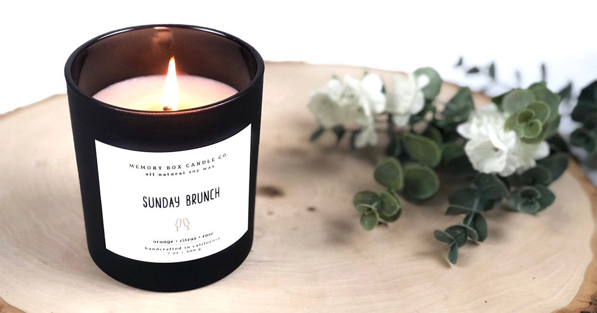 Memory Box Candle Co packaging