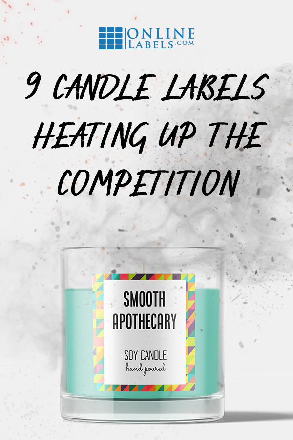 Examples of product label designs for candles