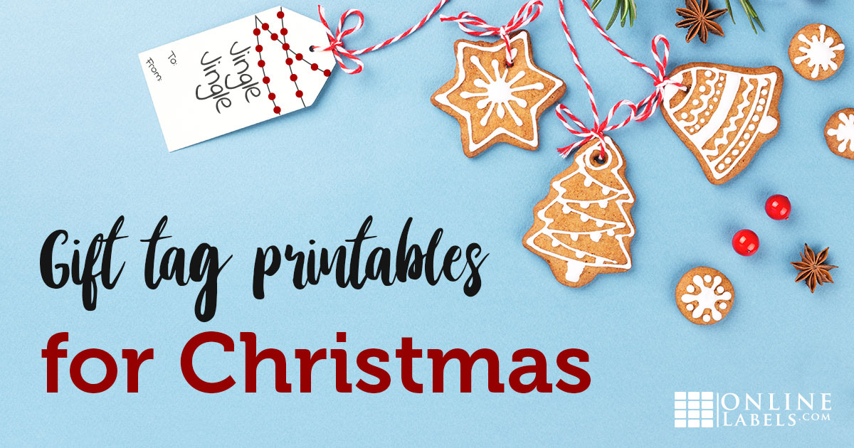 Free printable templates for Christmas gift stickers and cardstock tags