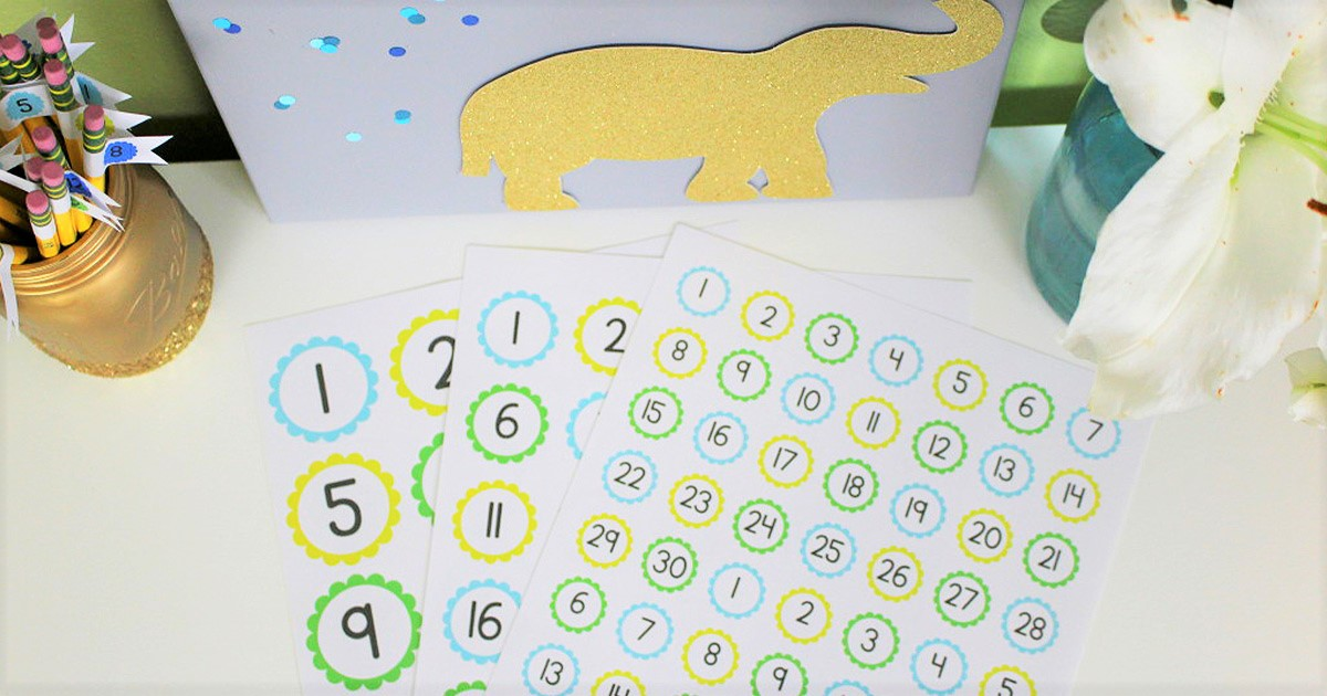 Free printable sticker sheets included with this tutorial