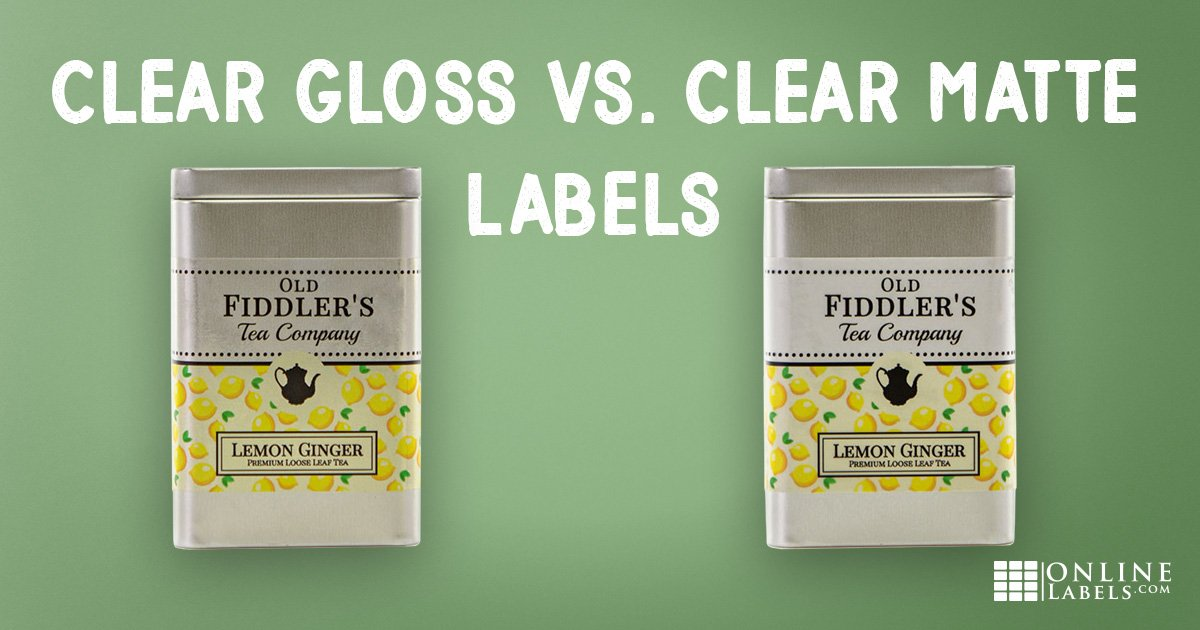 Difference between clear gloss and clear matte labels