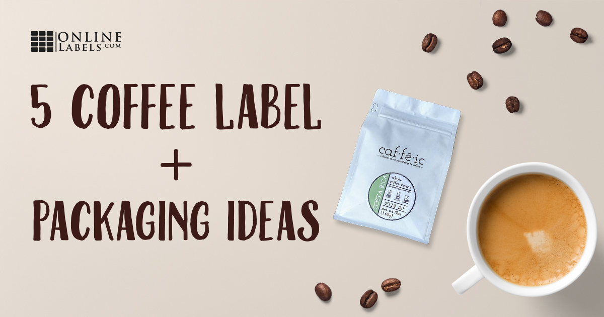 Examples of coffee labels and packaging