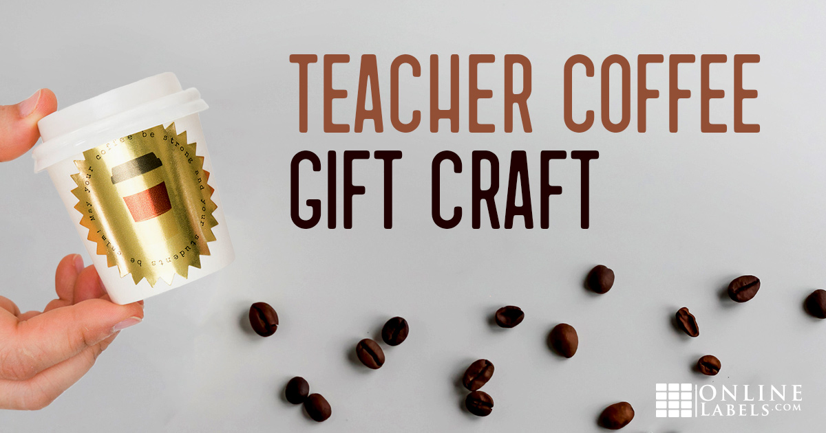 Printable coffee sticker for teachers.