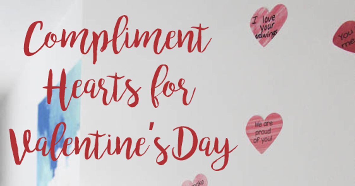 Spread the Love With Daily Compliment Removable Heart Labels