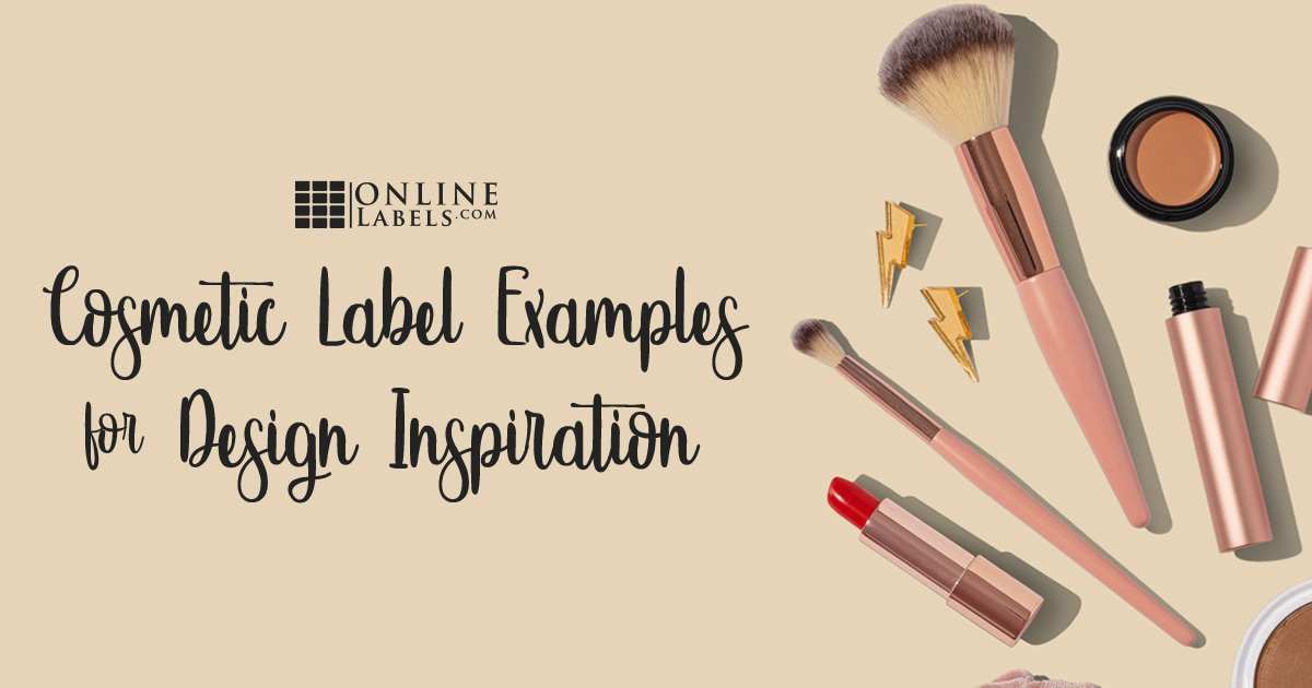 Cosmetic label examples for design inspiration.