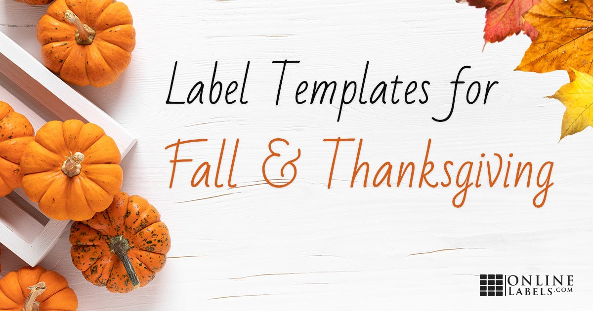 Free Label Templates For  Thanksgiving And The  Fall Season