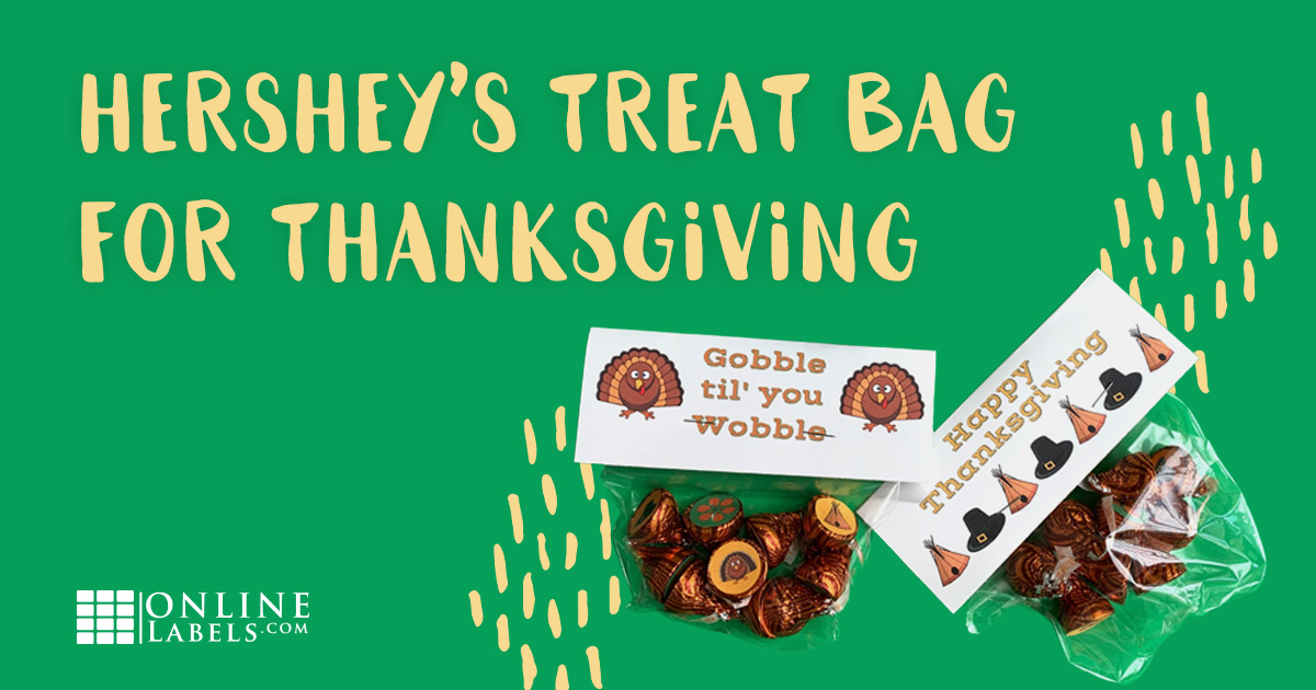 Thanksgiving Hershey's treat bag.