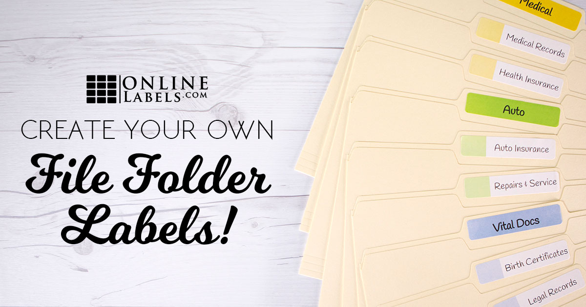 Ways To Create Your Own File Folder Labels OnlineLabelscom - Creating a design document
