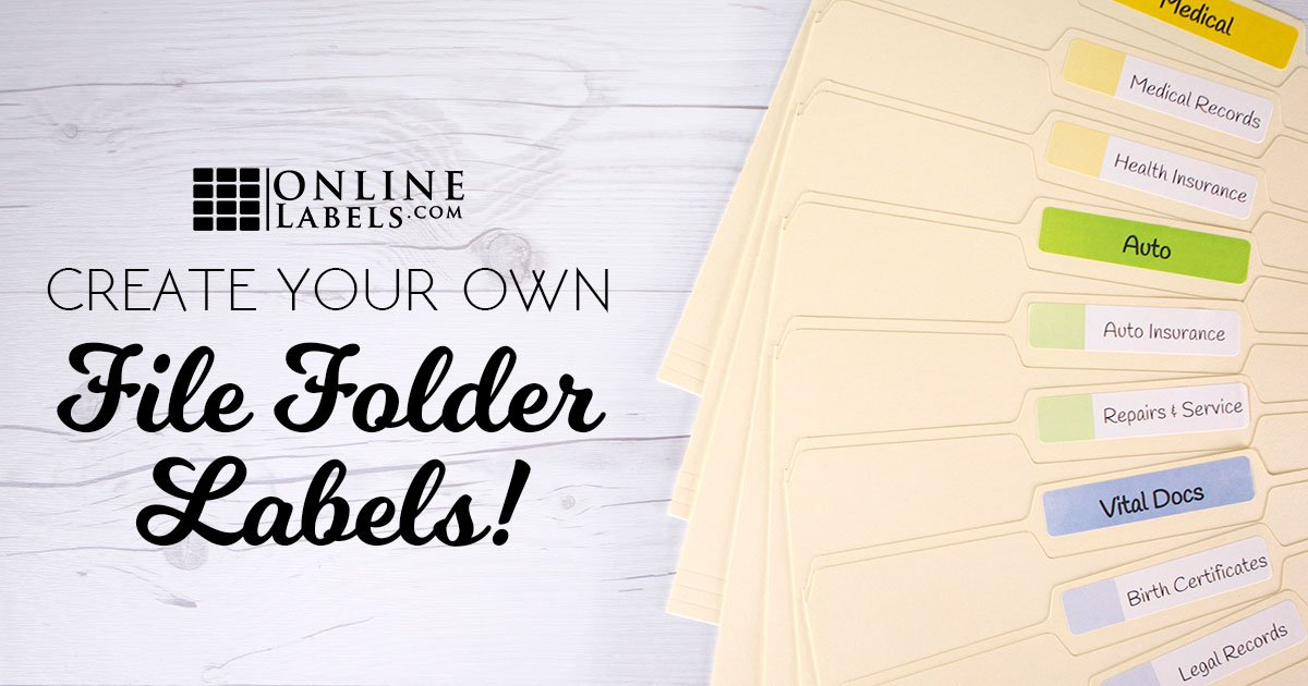 3 ways to create your own file folder labels I want to design my own home online